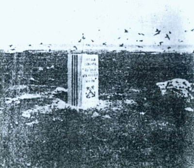 The sovereignty stele erected by the Republic of Viet Nam on Truong Sa (Truong Sa archipelago) in 1961